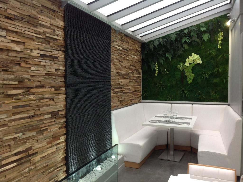 Murs d 39 eau cr ation int rieur et ext rieur murs d 39 eau en - Habillage mur exterieur en pierre ...