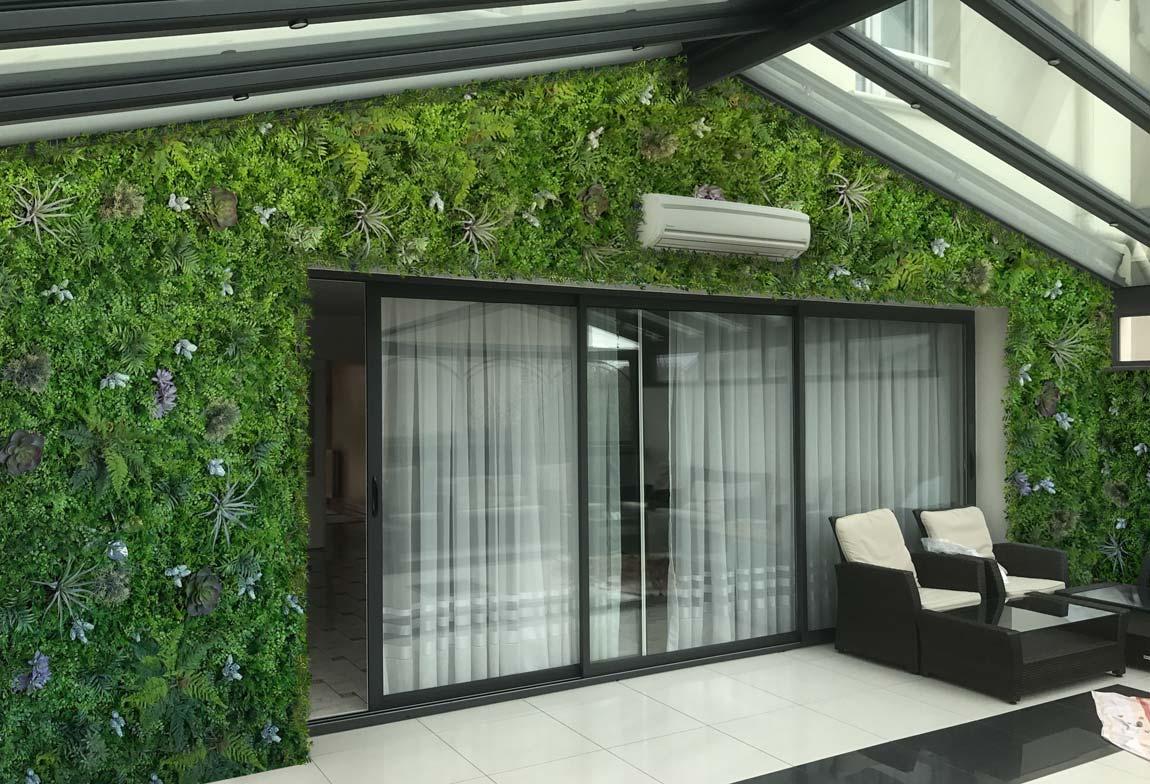 habillage v g tal mur zen histoire d 39 eau. Black Bedroom Furniture Sets. Home Design Ideas
