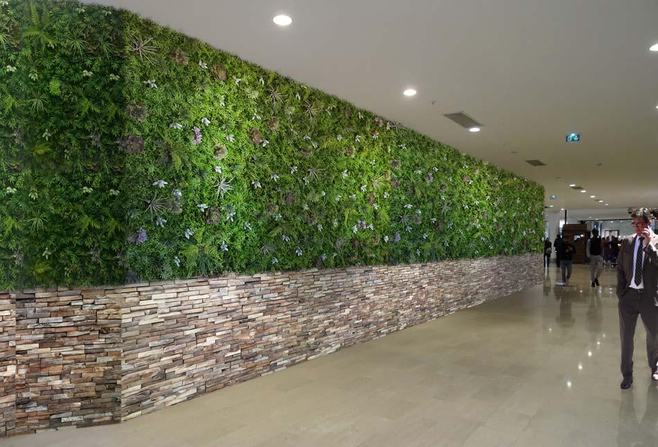 Mur végétal artificiel - Histoire d\'eau