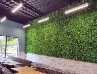 Mur et frises végétales artificielles