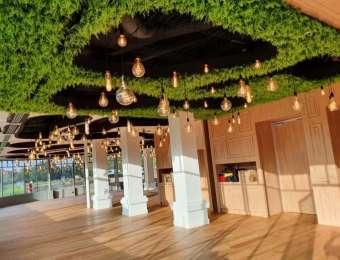Plafond végétal en fougère